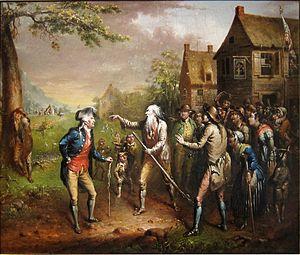 "Fort Christina - Illustration for Washington Irving's ""Rip Van Winkle"""