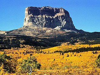 Rocky Mountain Front - Chief Mountain in Glacier National Park is a prominent peak along the Rocky Mountain Front.