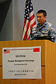 Chinese navy Rear Adm. Li Ji, the deputy director of the foreign affairs office of the Ministry of National Defense, speaks during Disaster Management Exchange 2013 at the U.S. Marine Corps Training Area 131112-A-NV268-011.jpg