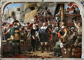 Christian IV on the ship Trefoldigheden