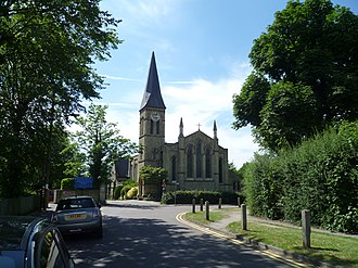 Cockfosters - Image: Christ Church Cockfosters 2 Aug 2015