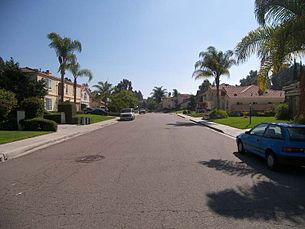 A typical suburban neighborhood in Chula Vista.