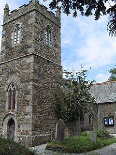 Manaccan civil parish and village on the Lizard peninsula in south Cornwall, England