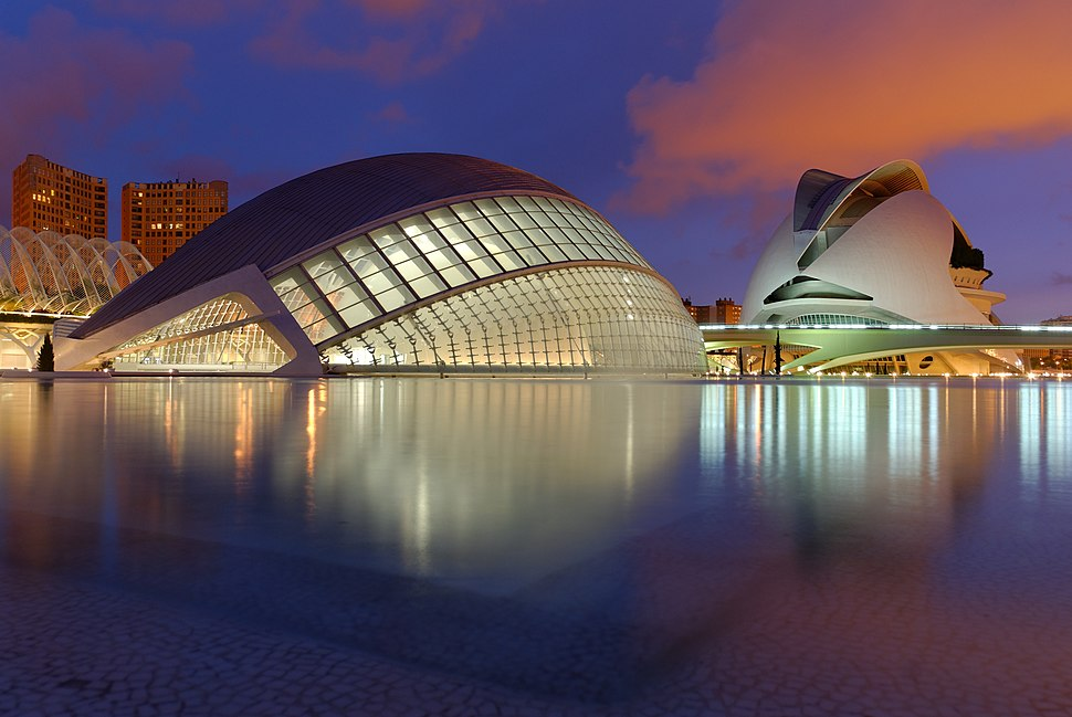 Ciutat de les Arts i les Ciències à la noche