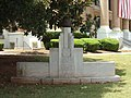 Civil War memorial and cannonball, Thomaston.JPG