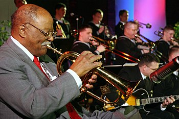 Legendary Jazz Trumpeter Clark Terry, plays al...