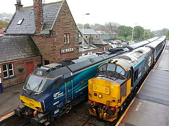 Direct Rail Services - Image: Class 37 and 68 st bees