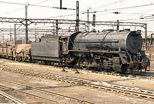 South African Class S1 0-8-0 - No. 3814 in Germiston yard, August 1973