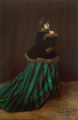 Le femme a la robe verte