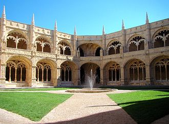 Jerónimos Monastery - Two-storey cloisters.