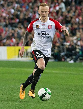 Jack Clisby - Clisby playing for Western Sydney Wanderers in July 2017