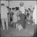 Closing of the Jerome Relocation Center, Denson, Arkansas. Jerome evacuees with their hand luggage . . . - NARA - 539758.tif