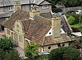 Clover Almshouses, Bidston, from the tower of St Oswald's 2.jpg