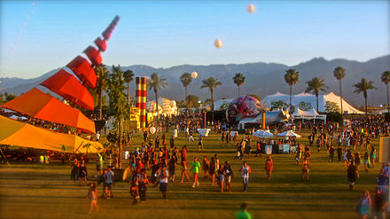 Coachella grounds in 2013 Coachella 2013 Do Lab and Helix Poeticus.jpg