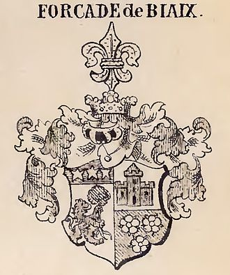 Forcade - Forcade-Biaix Coat of Arms, Silesia Branch, date unknown, pre-1900