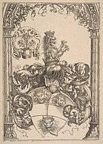Coat of arms with Three Lions' Heads MET DP816461.jpg