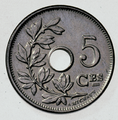 Coin BE 5c Albert I rev FR 45.png