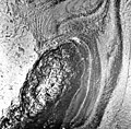 Columbia Glacier, Calving Terminus, Heather Island, June 11, 1978 (GLACIERS 1335).jpg