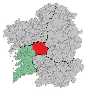 O Deza Comarca in Galicia, Spain