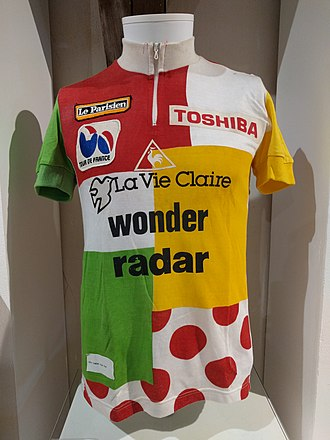 Greg LeMond - LeMond's combinated jersey, 1985 Tour de France.