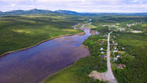Come By Chance, Newfoundland and Labrador - Image: Come By Chance, Newfoundland, overlooking the river