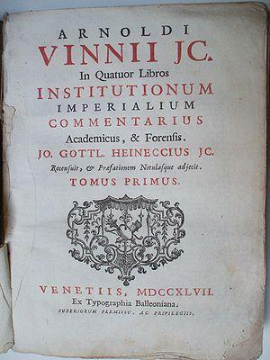 Arnold Vinnius - Arnold Vinnius comments