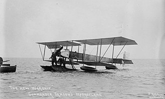 "Charles Rumney Samson - ""The new ""War Ship"" Commander Samson's hydroplane"", Short S.41 at Southsea, c.1913."