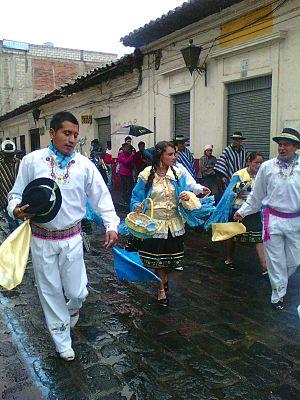 Latacunga - Parade in Latacunga city
