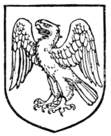 Fig. 449.—Eagle rising, wings displayed and inverted.