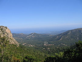 A view of the village of Conca from the GR20