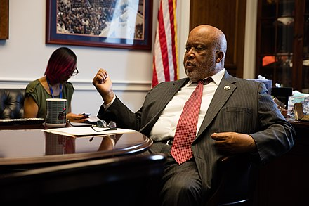 Thompson in his office in 2016 Congressman Bennie Thompson (24705452669).jpg