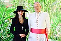 Constantina with Bishop Pedro Pablo Elizondo Cárdenas of Quintana Roo, Mexico..jpg