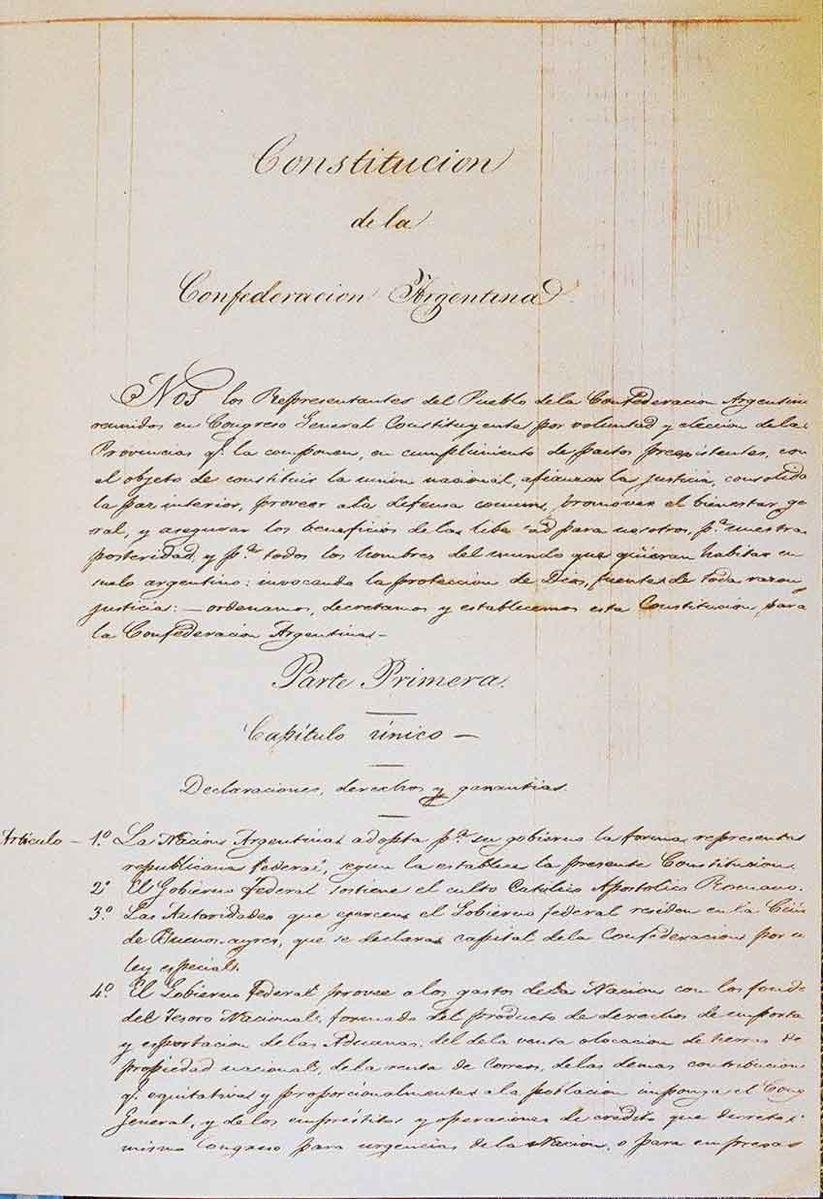 Argentine Constitution of 1853