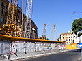Construction work for Metro line C at Porta Maggiore, Rome.jpg