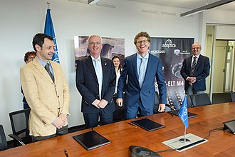 Consortium - Contract signed with the AdOptica consortium in Italy - ADS International and Microgate, partnered with Istituto Nazionale di Astrofisica - for design and construction of the largest adaptive mirror unit in the world.