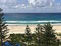Coolangatta beach, Queensland seen from holiday appartament towers facing the beach 03.jpg