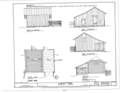 Corn Crib - Elevations, Floor Plan and Section - Dudley Farm, Farmhouse and Outbuildings, 18730 West Newberry Road, Newberry, Alachua County, FL HABS FL-565 (sheet 11 of 22).png