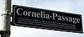 Cornelia-Passage, Straßenschild in Emmendingen benannt nach Cornelia Schlosser.jpg