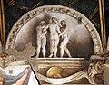 Correggio, camera di san paolo, 1518-19, lunette a monocromo 07,2 tre grazie.jpg