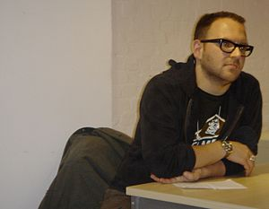 Cory Doctorow - Doctorow at Open Rights Group's 2006 meeting in London.