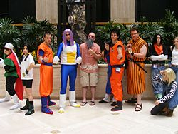 Cosplayers of Dragon Ball Z at AWA14 20080920.jpg