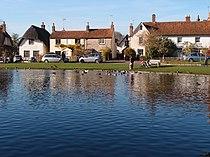 Cottages beyond Haddenham duck pond-geograph-3230575-by-Michael-Trolove.jpg