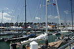 Cowes Yacht Haven during Cowes Week 2011 5.JPG