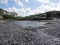 Crackington Haven, the river reaches the beach - geograph.org.uk - 1466129.jpg
