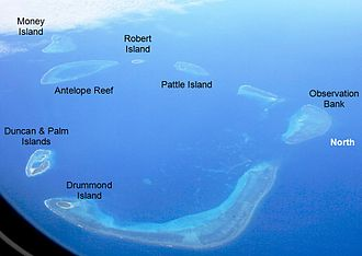 Paracel Islands - Aerial photo of the Crescent group