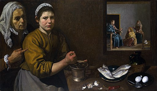 """Christ in the House of Martha and Mary"" by Diego Velázquez"