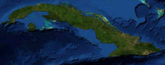 Geography of Cuba - Cuba from space.