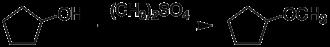 Cyclopentyl methyl ether - Image: Cyclopentyl methyl ether synthesis 1