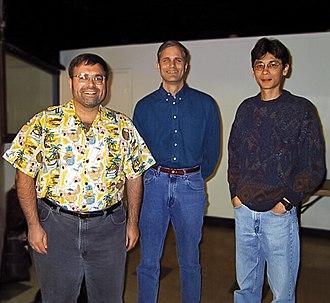 Illumina (company) - Czarnik, Stuelpnagel and Chee at their Illumina office in the Summer of 1998.