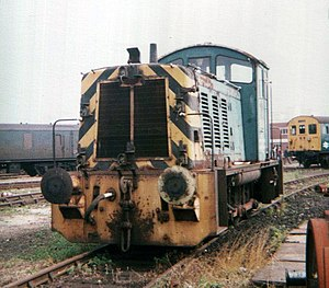 British Rail Class 07 - D2991 at Eastleigh Works in the 1970s. Still in service at the Works in 2012.